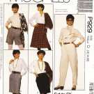 McCall's Sewing Pattern P929 3873 Misses Size 12-16 Easy Woman's Day Skirts Pants Shorts