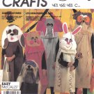 McCall's Sewing Pattern 2150 P912 Boys Girls Size S-L Easy Sack Costumes Masks Goodie Bag