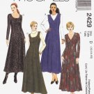 McCall's Sewing Pattern 2429 Misses Size 12-16 Easy Princess Seam Button Front Dress Jumper