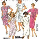 McCall's Sewing Pattern 2432 Women's Half Size 24 ½ Easy Dress Sleeve Drape Options