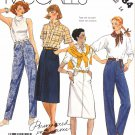 McCall's Sewing Pattern 2484 Misses Size 14 Blue Jeans A-Line Skirt Palmer & Pletsch