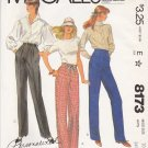 "McCall's Sewing Pattern 8173 Misses Size 12 Hips 36"" Palmer & Pletsch Pants Fitting Shell"