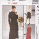 McCall's Sewing Pattern 9513 Misses Size 8-12 SewNews Long Sleeve A-Line Knit Dress
