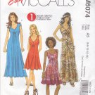 McCall's Sewing Pattern 6074 Misses Size 6-14 Easy 1 Hour Knit Dress Three Lengths Sleeve Options
