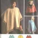 Simplicity Sewing Pattern 4358 Misses Size 6-16 Fleece Capelets  Poncho