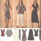 Simplicity Sewing Pattern 3506 Misses Size 10-18 Easy Wardrobe Dress Skirt Top Pants Jacket
