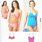 Kwik Sew Sewing Pattern 3696 Misses Size 8-22 Two Piece Swimming Bathing Suit Bikini Skirt