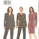 Butterick Sewing Pattern 3599 Misses Size 14-16-18 Easy Jacket Straight Skirt Pants Suit Pantsuit