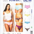 Kwik Sew Sewing Pattern 3881 K3881 Misses Size 8-22 Underwear Panties Brief Bikini Hipster Thong