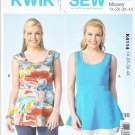 Kwik Sew Sewing Pattern 4114 Women's Plus Size 1X-4X (22W-32W) Sleeveless Peplum Tops