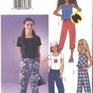 Butterick Sewing Pattern 3482 Girls Size 12-16 Easy Pullover Knit Top Cropped Capri Pants