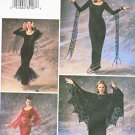 Butterick Sewing Pattern 3554 Misses Size 6-8-10 Gothic Goth Witch Gown Dress Costume