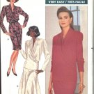 Butterick Sewing Pattern 4365 Misses Size 8-10-12 Easy Wrap Long Sleeve Top Straight Flared Skirts