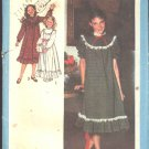 Simplicity Sewing Pattern 8807 Girls Plus Size 8 1/2 - 14 1/2 Loose-fitting Short Long Sleeve Dress