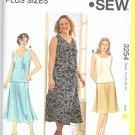 Kwik Sew Sewing Pattern 3254 Women's Plus Size 1X-4X (22W-32W) Sleeveless Top Gored Skirt