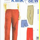 Kwik Sew Sewing Pattern 3482 Women's Plus Size 1X-4X (22W-32W) Pants Shorts Length Options