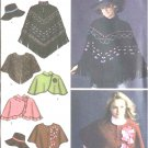 Simplicity Sewing Pattern 4359 Misses Size 6-16 Poncho Capelet Wrap Hat