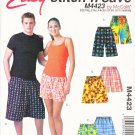 "McCall's Sewing Pattern 4423 Misses Mens Hip Size 32 1/2-40"" Easy Boxer Shorts Three Lengths"