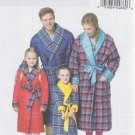 Butterick Sewing Pattern 5830 Boys Girls Size 3-8 Long Sleeve Front Wrap Quilted Robe Belt