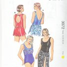 Kwik Sew Sewing Pattern 3072 Women's Plus Size 1X-4X (approx 22W-32W) One Piece Swimsuit Skirt Wrap