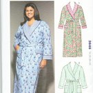Kwik Sew Sewing Pattern 3646 Women's Plus Size 1X-4X (approx 22W-32W) Front Wrap Bathrobe Robe