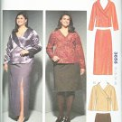 Kwik Sew Sewing Pattern 3656 Women's Plus Sizes 1X-4X Jackets Straight Skirts Length Collar Options