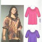 Kwik Sew Sewing Pattern 3657 Women's Plus Size 1X-4X (approx 22W-32W) Pullover Top Tunic