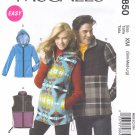 "McCall's Sewing Pattern 6850 Misses Mens Chest Size 46-56"" Easy Zipper Front Vest Jacket Hood"