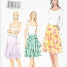 Vogue Sewing Pattern 8082 Misses Size 6-8-10 Easy Fitted Ruffled Skirts Waist Yoke