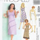 McCall's Sewing Pattern 4022 Misses Size 4-10 Sleeveless Summer Empire Raised Waist Dresses