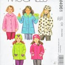 McCall's Sewing Pattern 4961 Girls Size 3-6 Button Front Long Sleeved Unlined Fleece Jacket Coat Hat