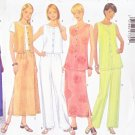Butterick Sewing Pattern 5589 Misses Size 6-8-10 Easy Classic Button Front Top Vest Skirt Pants