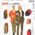 McCall's Sewing Pattern 9474 Misses Size 12-16 Easy Wardrobe Straight Skirt Pants Vest Jacket