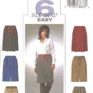 Butterick Sewing Pattern 4291 Misses Size 6-8-10-12 Easy Straight Skirts