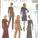 McCall's Sewing Pattern 2874 M2874 Misses Size 10-14 Classic Jacket Pants Long Short A-Line Skirt