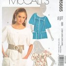 McCall's Sewing Pattern 5665 M5665 Misses Size 8-16 Loose Fitting Button Front Top Shirt Smock