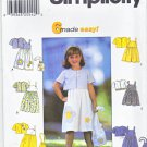 Simplicity Sewing Pattern 7134 8544 Girls Size 3-6 Easy Sundress Summer Dress Short Jacket Purse