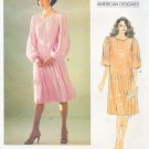 Vogue Sewing Pattern 1166 Misses Size 10 Albert Nipon American Designer Tucked Pullover Dress Belt