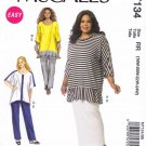 McCall's Sewing Pattern 7134 M1734 Misses Size 8-16 Easy Khaliah Ali Knit Tunics Skirt Pants