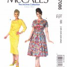 McCall's Sewing Pattern 7086 Misses Size 8-16 Vintage Style Straight Full Skirt Dresses