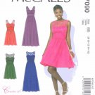 McCall's Sewing Pattern 7090 M7090 Women's Plus Size 18W-24W Lined Long Short Formal Dress