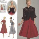 Simplicity Sewing Pattern 1250 Misses Size 14-22 Vintage 1950's Style Strapless Dress Jacket Peplum