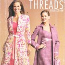 Simplicity Sewing Pattern 4693 Misses Size 6-8-10-12 Lined Dress Coat Purse Threads Collection
