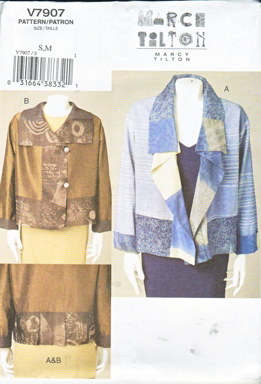 Vogue Sewing Pattern 7907 Misses Sizes 8-14 Marci Tilton Unlined Embellished Loose-Fitting Jacket