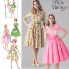 Simplicity Sewing Pattern 1459 Misses Sizes 16-24 Vintage Style Button Front Bodice Dress Cummerbund
