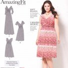 Simplicity Sewing Pattern 1102 Women's Plus Sizes 20W-28W Amazing Fit Raised Waist Knit Dress