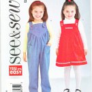 Butterick Sewing Pattern 4260 Girls Size 4-5-6 Easy Jumper Jumpsuit Overalls