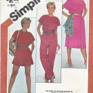 Simplicity Sewing Pattern 5373 Misses Sizes 8-12 Overnight Success Jumpsuit Romper Dress