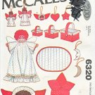 McCall's Sewing Pattern 6320 Christmas Decorations Angels Stars Baskets Ornaments Placemat