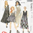 McCall's Sewing Pattern 7249 Misses Size 16-22 2-Hour Pullover Jumper Length Pocket Options